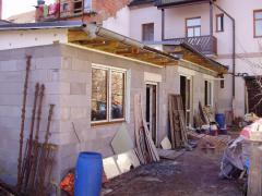 Přístavba objektu ve Vysoké ulici, Rakovník (foto z realizace)